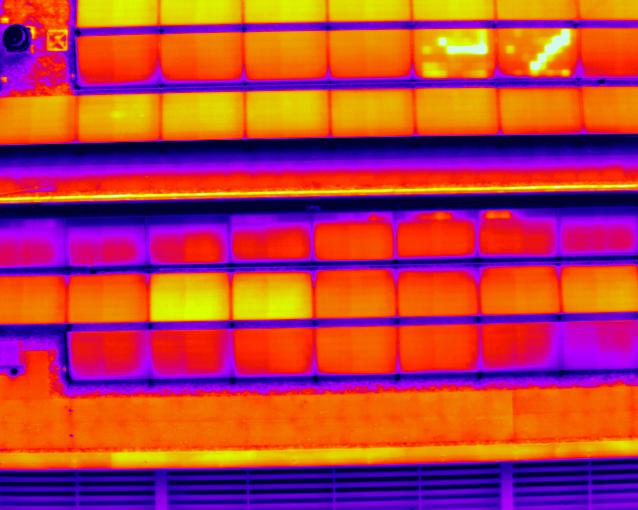 Thermische beeld van PV panelen